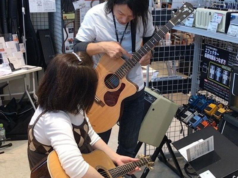 ギター カクタス Qactus 使い方 弾き方 店頭イベント