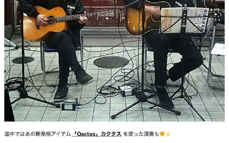 Qactus カクタス ギター 初心者 ビギナー 指一本で弾ける ライブ