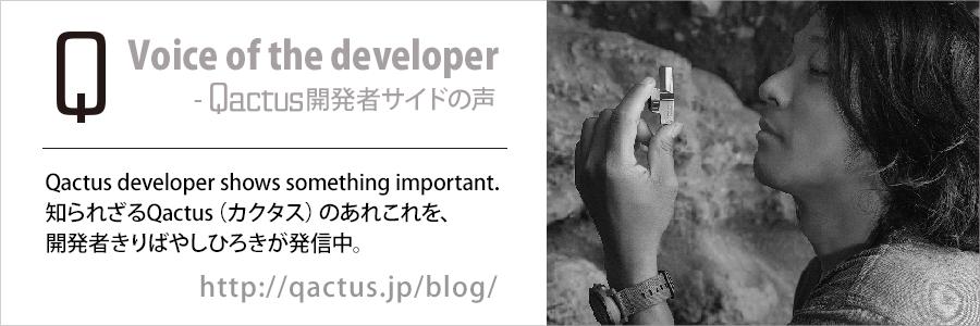 Voice of the developer-Qactus開発者サイドの声-あなたもぜひ、Qactus-カクタスを知ってください きりばやしひろき